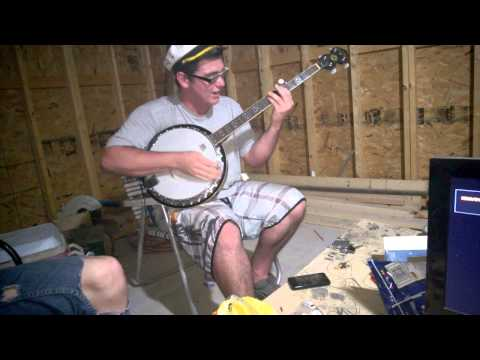 Awesome friend playing Banjo like a B.A.