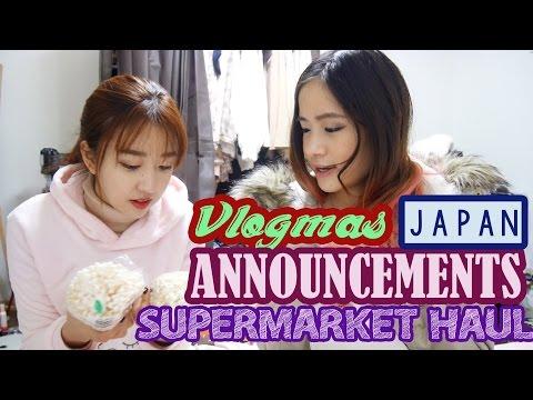 Announcements & Japanese Supermarket Haul! | Vlogmas #19 | KimDao in JAPAN ft. Sunnydahye