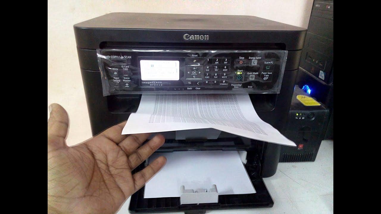 Canon MF221d Testing, Print Speed, Duplex Printing