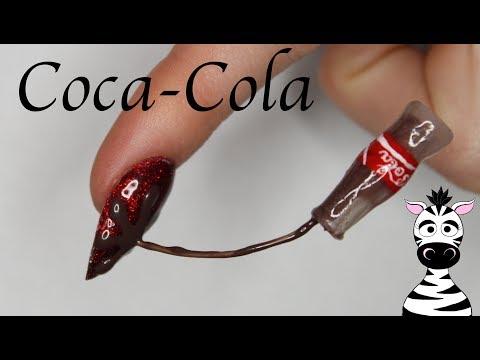 Extreme 3D Coca Cola Bottle Pouring Over Nail Acrylic Nail Art Tutorial thumbnail