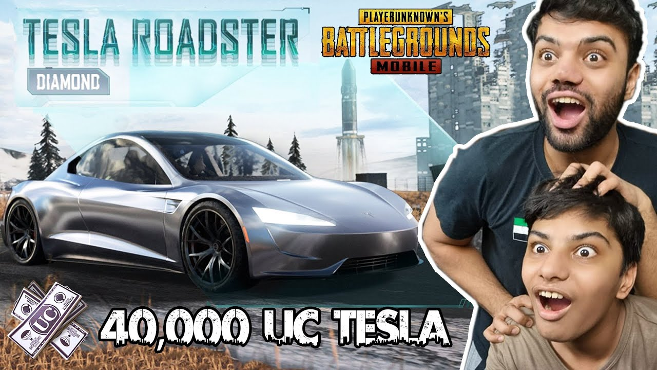 Most Expensive Car In PUBG Mobile | 40,000 UC | TESLA ROADSTER - Diamond !!!