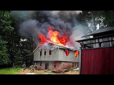 House Fire Training Fire  [Samsung Gear 360 HD]