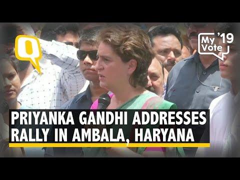 Elections 2019: Priyanka Gandhi Addresses Rally in Ambala, Haryana