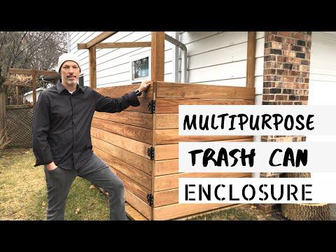 Garbage Can Enclosure: Building a Garbage Can Enclosure