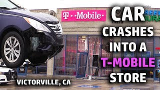 Car CRASHES into a T Mobile store in Victorville, CA