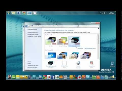 How To Download OEM TOSHIBA Wallpaper (Only in Window 7) (HD)