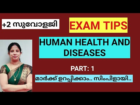 +2 ZOOLOGY HUMAN HEALTH AND DISEASES IN MALAYALAM/ Swagidas Bioclass