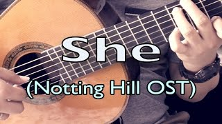 She - Elvis Costello (Notting Hill OST) (solo guitar cover)