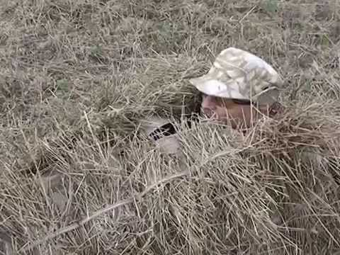 Скрадок для охоты в поле. Маскировка.