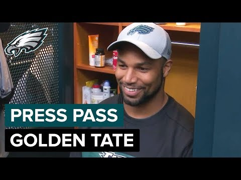 WR Golden Tate On His First Day With The Eagles | Eagles Press Pass