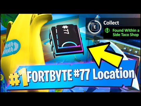 FORTBYTE #77 Location - FOUND WITHIN A TRACK SIDE TACO SHOP (Fortnite)
