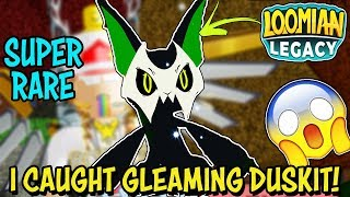I CAUGHT A *GLEAMING* DUSKIT! - Loomian Legacy (Roblox) - Moves, Stats, Looks & LIVE REACTION