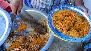 It's a Lunch Time in Hyderabad | Cheapest Roadside Unlimited Meals| Indian Street food | #Streetfood