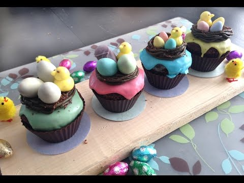 Easter cupcakes idea; bird nest and chocolate cups! | Cupcakes de Pâques; nid d'oiseau!
