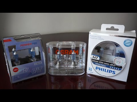 M-Tech Powertec SuperWhite, OSRAM Cool Blue Intense, Philips WhiteVision