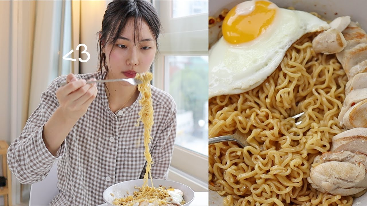 Life in Korea | Pancit Canton Mukbang, Workout Routine, Grocery Shopping