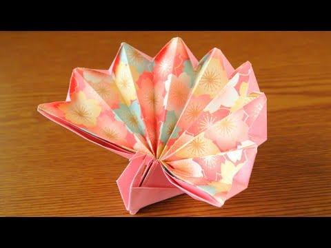 折り紙 祝い鶴・正月鶴 Origami  Celebration Cra
