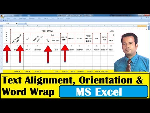 Text Alignment , Orientation, Word Wrap In Excel