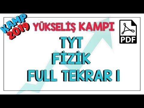 TYT Fizik Full Tekrar 1 | Kamp2019 #yükselişkampı