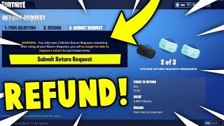 *IT'S BACK* HOW TO REFUND SKINS + COSMETICS in Fortnite! Patch v4.3 WORKING REFUND FEATURE!
