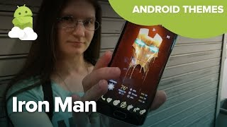 Prepare for Civil War with a fantastic Iron Man Theme on your Android