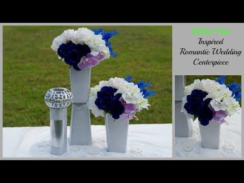 Dollar Tree Inspired Modern Romantic Wedding Centerpiece   DIY Wedding Centerpiece   DIY Tutorial