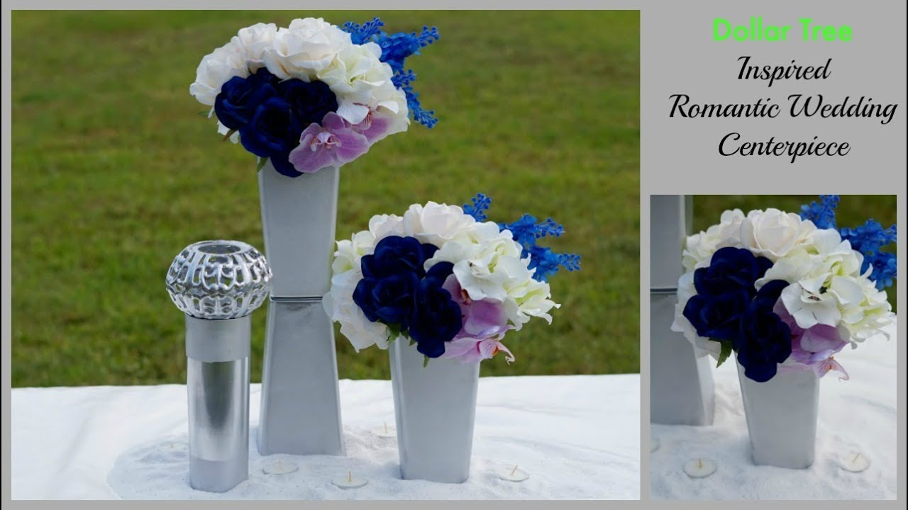 Dollar Tree Inspired Modern Romantic Wedding Centerpiece Diy