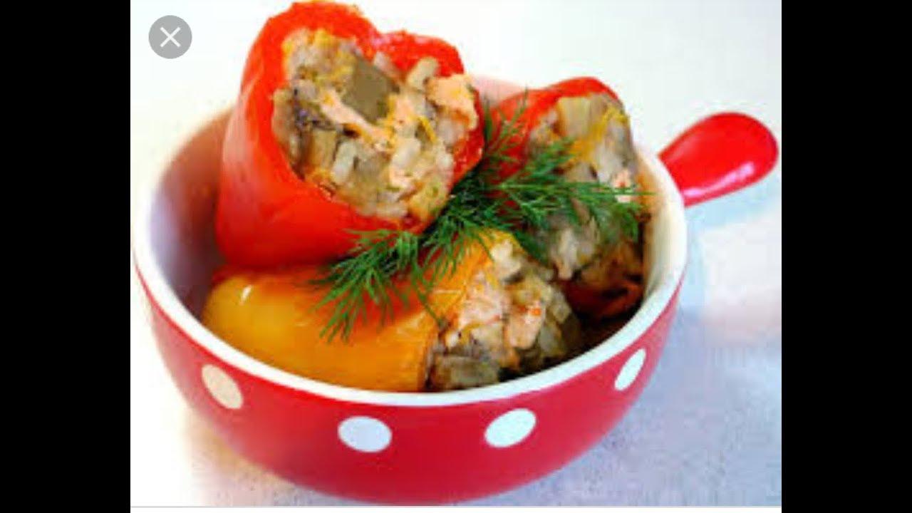 Болгарские перцы, фаршированные рыбой