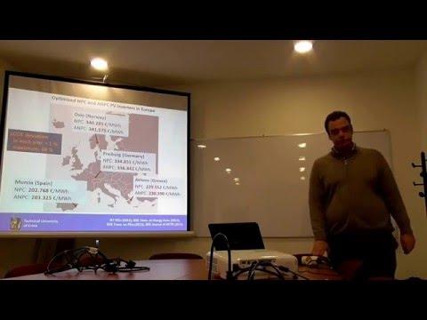 Talk by Eftichios Koutroulis at ECE TUC (Feb 1, 2016)