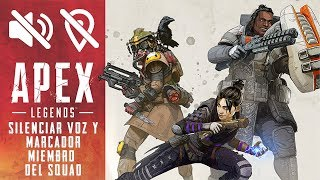 Como silenciar la voz y/o los marcadores en Apex Legends. (PS4, Xbox y PC)