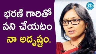 భరణి గారితో పని చేయటం నా అదృష్టం. - Anchor Anjali || Talking Movies With iDream