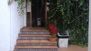 A walk up 1 set of stairs at the Arcos Playa Apartments, S'illot, Majorca