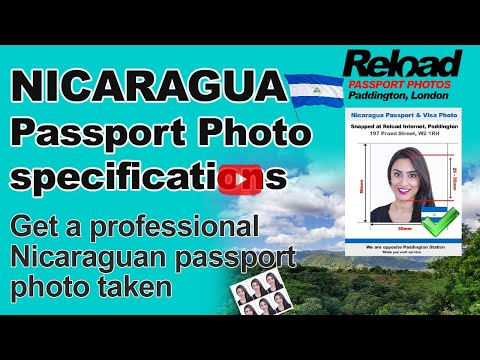 Nicaraguan Passport Photo and Visa Photo snapped in Paddington, London