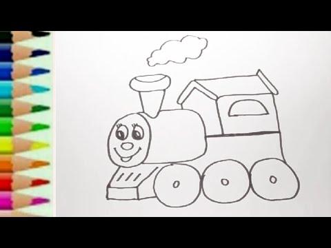 Belajar Menggambar Mainan Kereta Api Thomas Dengan Spidol Edukasi