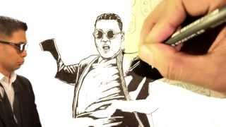 PSY GENTLEMAN - Speed Drawing