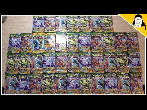 Открываю 40 Покемон паков (бустеров) || Pokemon TCG