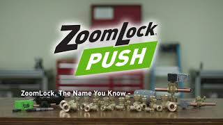 ZoomLock PUSH Push-to-Connect Refrigerant Fittings for Copper Tubing