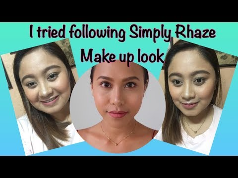 I TRIED FOLLOWING SOMEONE (SIMPLY RHAZE) ELSE'S MAKE UP LOOK|Jittery Jean
