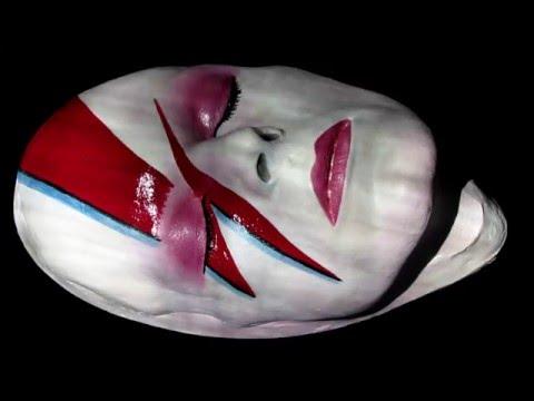 David Bowie Aladdin Sane Painted Fine Art Life Mask #11