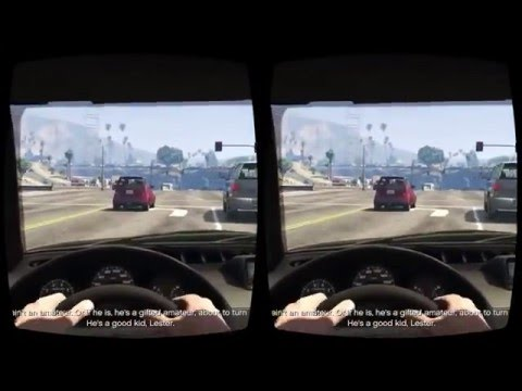 GTA 5 mod Oculus Rift VR 3D gameplay video 2016