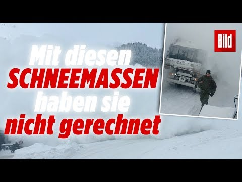 Nach gefährlicher Sprengung | Lawine überrascht Schweizer Soldaten 😱