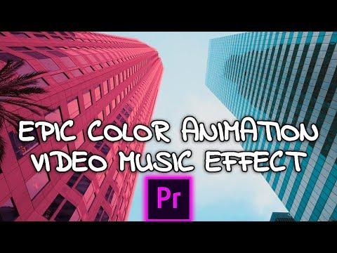 Animación y Efecto de color en Adobe Premiere Pro CC 2017 como hacer facil tutorial