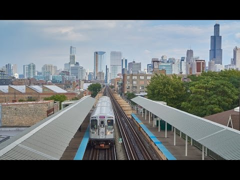 Above and Below: CTA Trains in Chicago