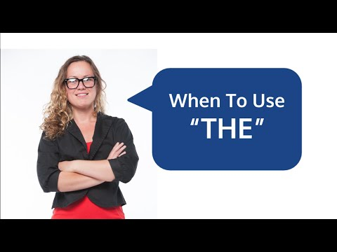 "When to Use ""THE"" Article in English Language Grammar"