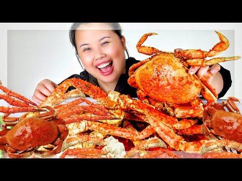 SEAFOOD BOIL KING CRAB LEGS + DUNGENESS CRAB MUKBANG 먹방 | EATING SHOW