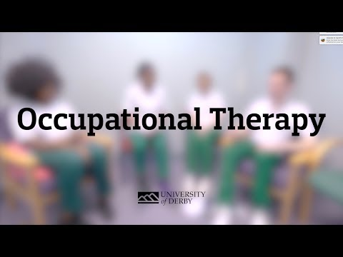 Pre-registration Occupational Therapy at the University of Derby