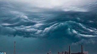Угрожающего вида облака напугали жителей Хабаровска