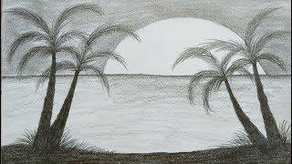 Wow keren!!!! Belajar menggambar itu mudah -  Cara menggambar pemandangan