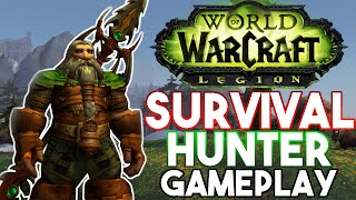 Survival Hunter Gameplay (Artefakt + Order Hall) - Legion Alpha