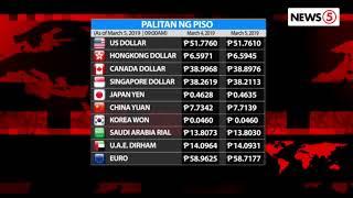 Palitan ng Piso kontra Dolyar | March 5, 2019